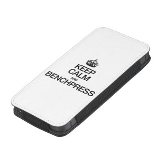 KEEP CALM AND BENCHPRESS.ai iPhone 5 Pouch