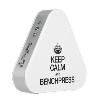 KEEP CALM AND BENCHPRESS.ai Bluetooth Speaker