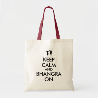 Keep Calm and Bhangra On Dancing Customizable Tote Bag