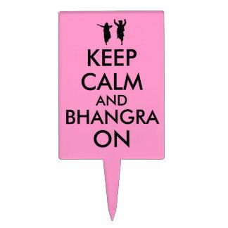 Keep Calm and Bhangra On Dancing Customizable Cake Picks