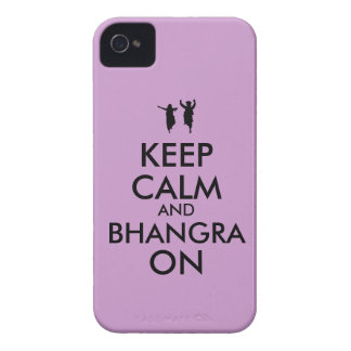 Keep Calm and Bhangra On Dancing Customizable iPhone 4 Cover