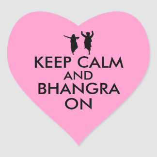 Keep Calm and Bhangra On Dancing Customizable Heart Sticker