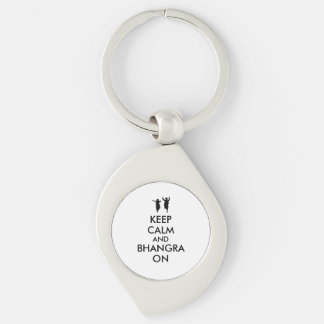 Keep Calm and Bhangra On Dancing Customizable Key Chains