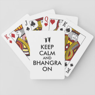 Keep Calm and Bhangra On Dancing Customizable Playing Cards