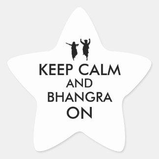 Keep Calm and Bhangra On Dancing Customizable Star Sticker