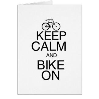 Keep Calm and Bike On Card