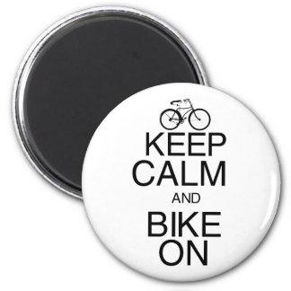 Keep Calm and Bike On Magnet