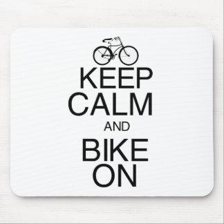 Keep Calm and Bike On Mouse Pad