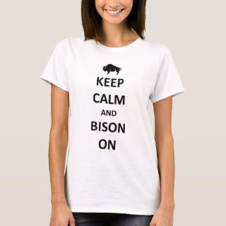 Keep calm and Bison on T-Shirt