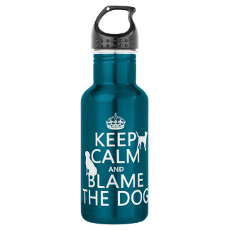 Keep Calm and Blame the Dog - all colors Water Bottle