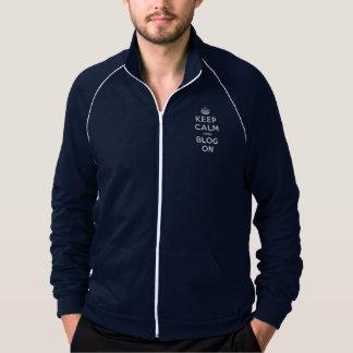 Keep Calm and Blog On American Apparel Fleece Track Jacket