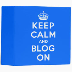Keep Calm and Blog On Avery Signature 1