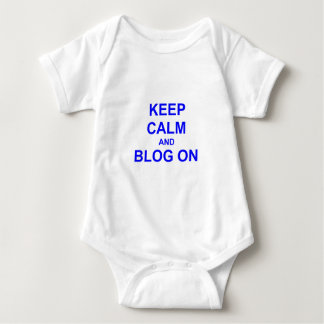 Keep Calm and Blog On black gray blue Infant Creeper