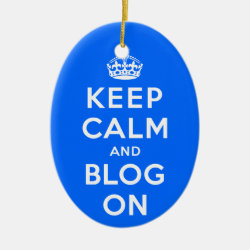 Oval Ornament with Keep Calm and Blog On design