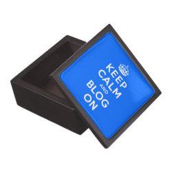 Medium (3' X 3') Gift Box with Keep Calm and Blog On design