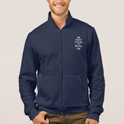 American Apparel California Fleece Zip Jogger with Keep Calm and Blog On design