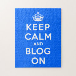 10x14 Photo Puzzle with Keep Calm and Blog On design