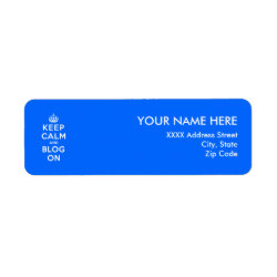 Return Label with Keep Calm and Blog On design