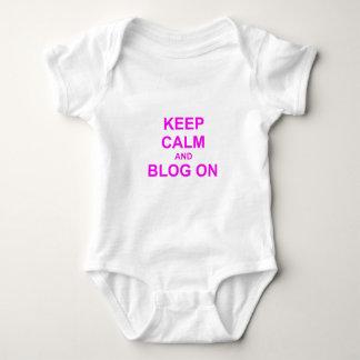 Keep Calm and Blog On orange pink red Shirt