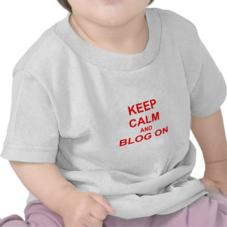 Keep Calm and Blog On orange pink red T-shirt