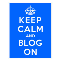 Postcard with Keep Calm and Blog On design