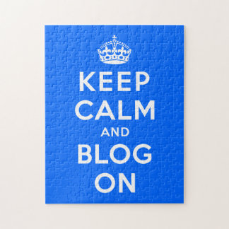 Keep Calm and Blog  On Puzzle