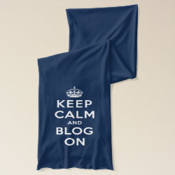 Keep Calm and Blog On Jersey Scarf