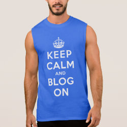 Men's Ultra Cotton Sleeveless T-Shirt with Keep Calm and Blog On design