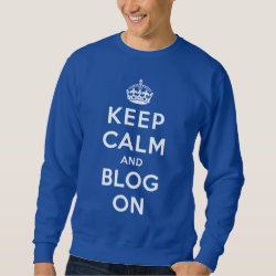 Men's Basic Sweatshirt with Keep Calm and Blog On design