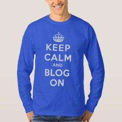 Men's Basic Long Sleeve T-Shirt with Keep Calm and Blog On design