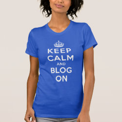 Women's American Apparel Fine Jersey Short Sleeve T-Shirt with Keep Calm and Blog On design