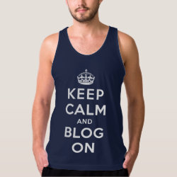 Men's American Apparel Fine Jersey Tank Top with Keep Calm and Blog On design
