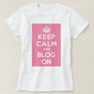 Keep Calm and Blog On Tee Shirt