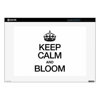 KEEP CALM AND BLOOM LAPTOP DECAL