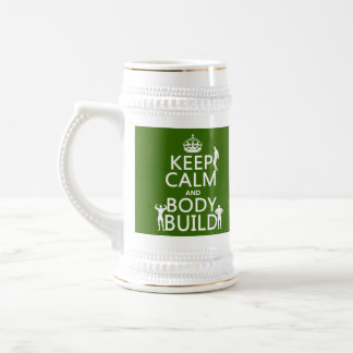 Keep Calm and Body Build Beer Stein