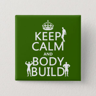 Keep Calm and Body Build Button