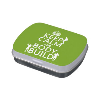 Keep Calm and Body Build (customizable) Jelly Belly Tins