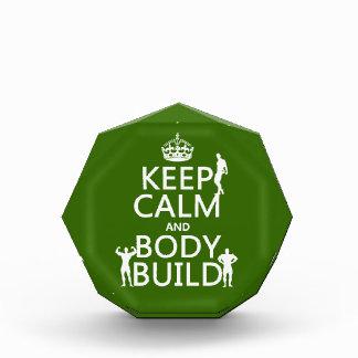 Keep Calm and Body Build customize background Award
