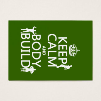 Keep Calm and Body Build (customize background) Business Card