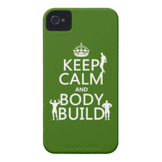 Keep Calm and Body Build customize background Case-Mate iPhone 4 Cases