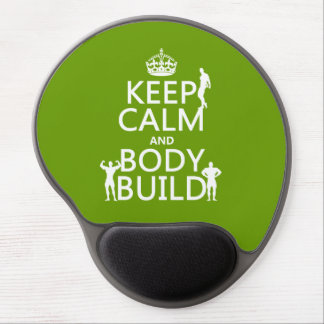 Keep Calm and Body Build Gel Mouse Pad