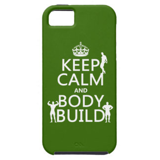 Keep Calm and Body Build iPhone SE/5/5s Case