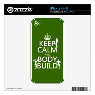 Keep Calm and Body Build Skin For iPhone 4S