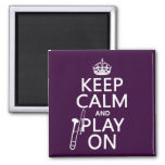 Keep Calm and Bone On (Trombone)(any color) 2 Inch Square Magnet