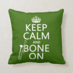 Keep Calm and 'Bone On (trombone - any color) Pillows