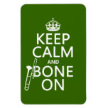 Keep Calm and 'Bone On (trombone - any color) Magnet