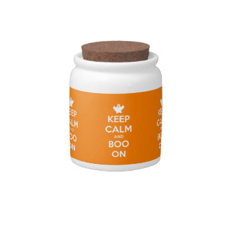 Keep Calm and Boo On Candy Dish