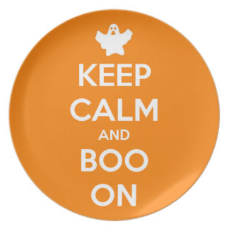 Keep Calm and Boo On Party Plate