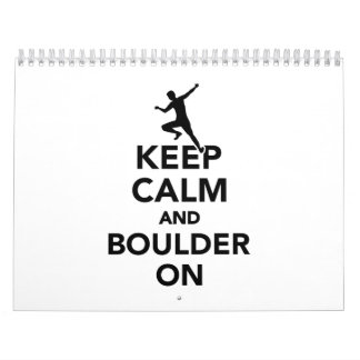 Keep calm and boulder on calendar