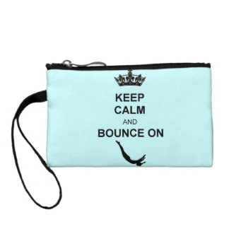 Keep Calm and Bounce Trampoline Change Purse